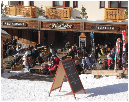 Cafe Face West terrace, Val Thorens restuarant