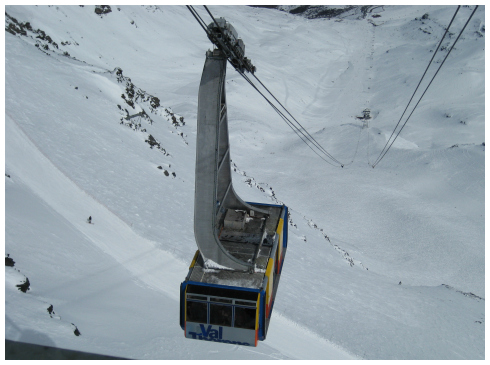 Val Thorens history, Cime de Caron cable car