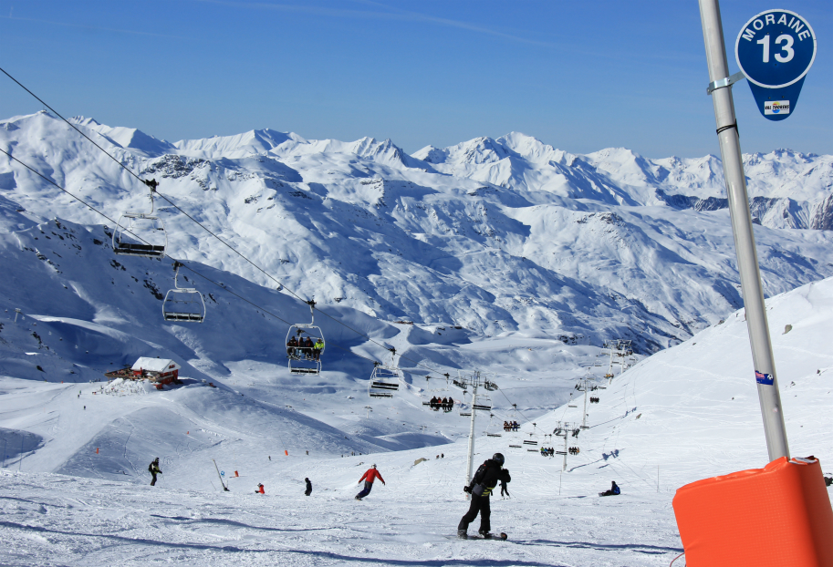 Moraine, Val Thorens