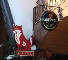 Val Thorens bars and pubs -view of the Red Fox