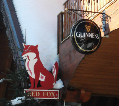 Val Thorens bars, the Red Fox pub, Balcons area, Val Thorens