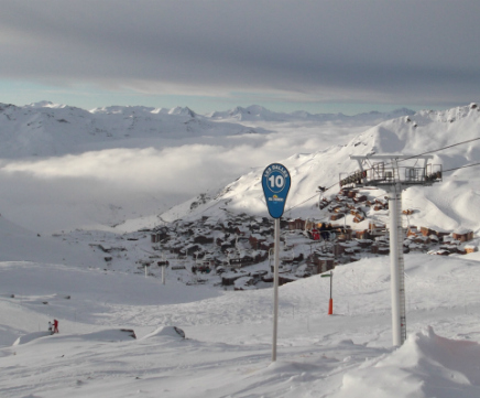 View of Val Thorens from Les Dalles